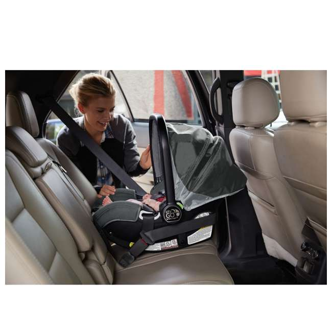 1969638 Baby Jogger City Go Baby Infant Car Seat, Steel Gray 3