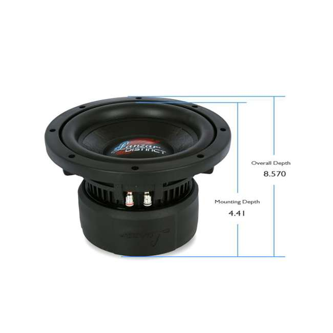 4 x DCTS84 Lanzar Distinct High-Power 800W 8-Inch Subwoofer (4 Pack) 5