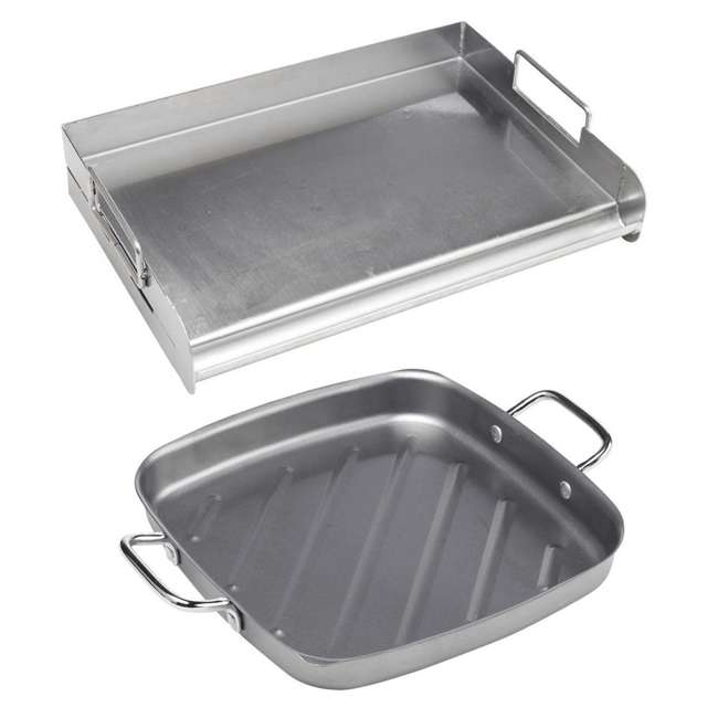 BOPA-24105 + BOPA-24120 Bull Flat Top Grill Griddle with Handles & Non-Stick Grill Pan