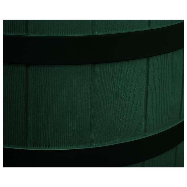 RW50-DR-GRN Good Ideas Rain Wizard Rain Collection Rain Barrel 50-Gallon Dark Ribs, Green 5