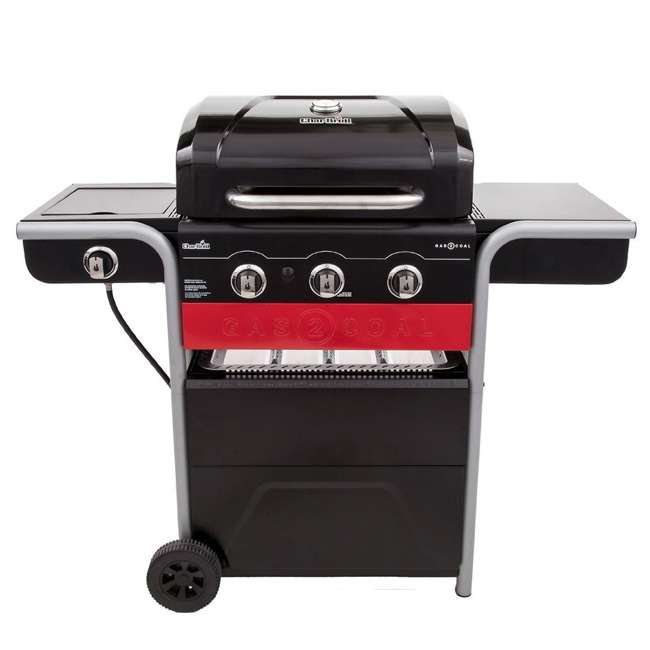 char broil gas2coal 3 burner gas and charcoal grill 463370516. Black Bedroom Furniture Sets. Home Design Ideas
