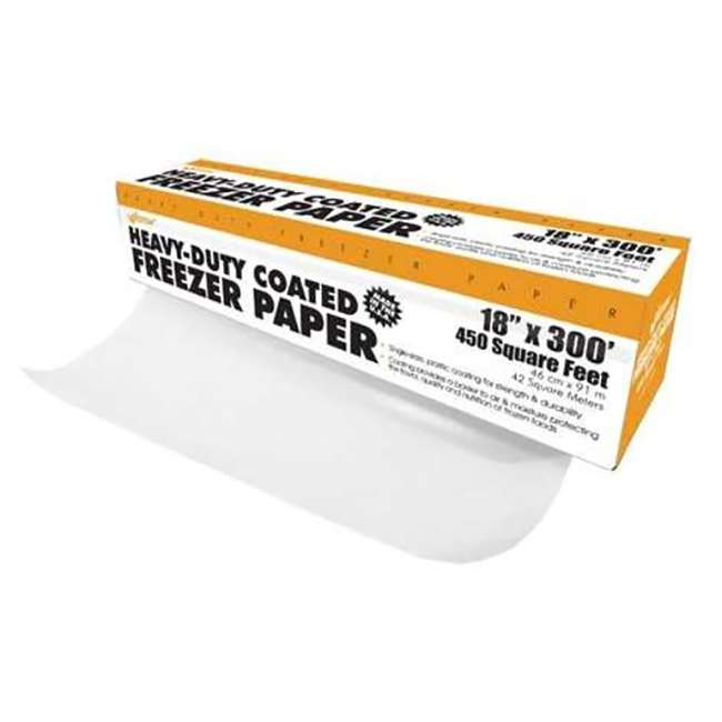83-4001-W Weston Heavy Duty 18-Inch x 300-Foot Freezer Paper Roll with Cutter Box