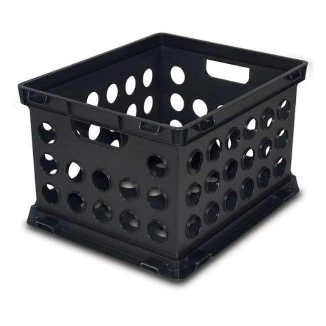 6 x 16939006-U-A 6) Sterilite Plastic Heavy Duty Crate Stacking Storage Containers (Open Box) 1