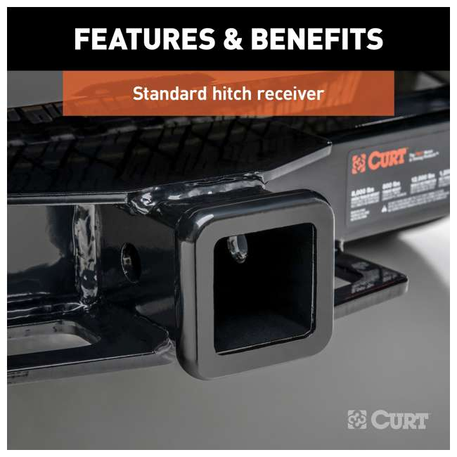 13264 Curt 13264 Class 3 2 Inch Receiver Trailer Hitch for 2016 to 2020 Toyota Tacoma 3