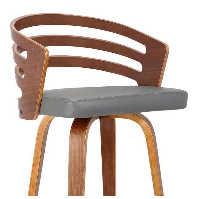 4 x LCJYBAGRWA30 Armen Living Jayden 30 Inch Mid Century Swivel Barstool Chair, Gray (4 Pack) 5