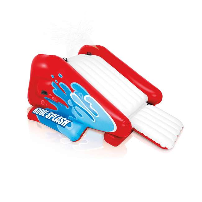 58849VM-U-A Intex Kool Splash Inflatable Water Slide Center w/ Sprayer Red (Open Box)(2 Pack)