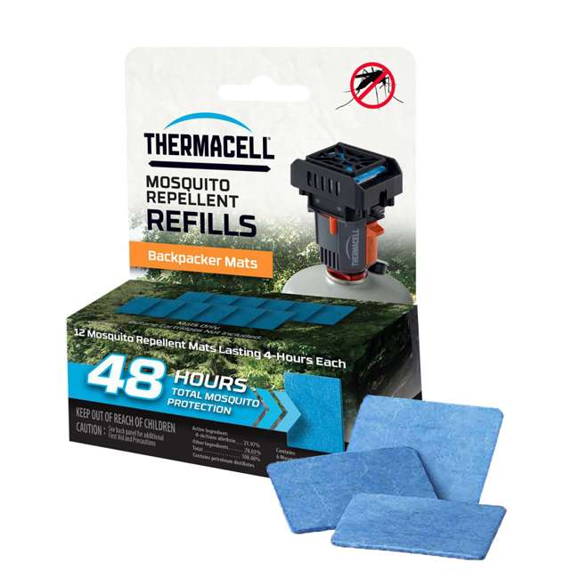 M48 Thermacell 48 Hours Backpacker Mosquito Repeller Mat-Only Refill, 2-Pack 1
