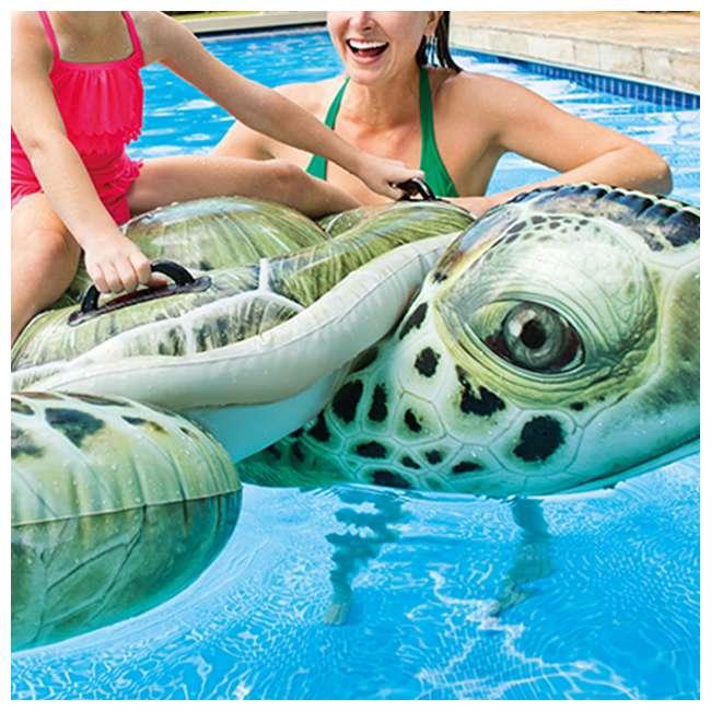 57555EP-U-B Intex Realistic Sea Turtle Inflatable Ride-On Pool Float with Handles (Used) 4
