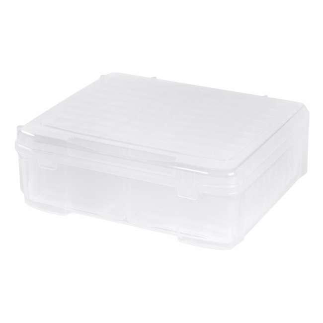 585140 IRIS 585140 5 x 7 Inch Large Photo Craft Keeper Storage Box Organizer, Clear