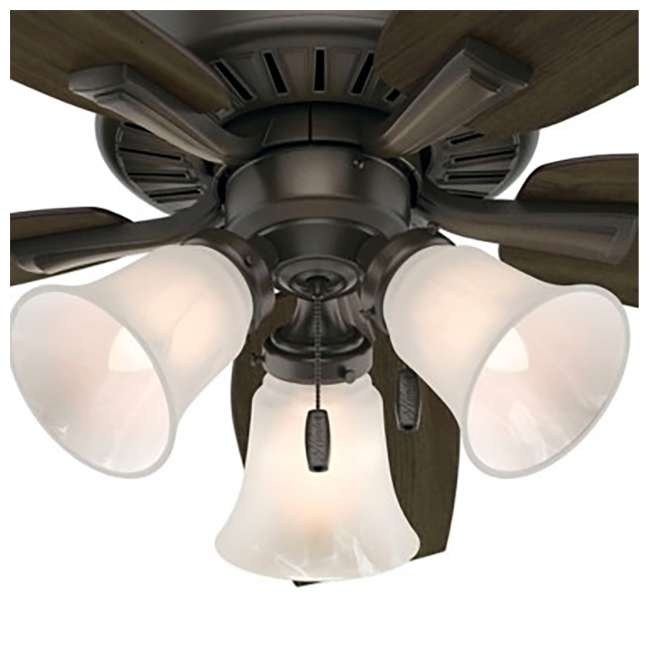 52116 Hunter 52116 Atkinson 46 Inch 4 Blades Indoor Ceiling Fan with Light, Bronze 4