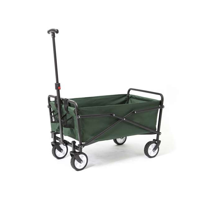 SUW-206-GREEN-U-A Seina Heavy Duty Folding 150 lb Capacity Utility Cart, Green (Open Box) (2 Pack) 1