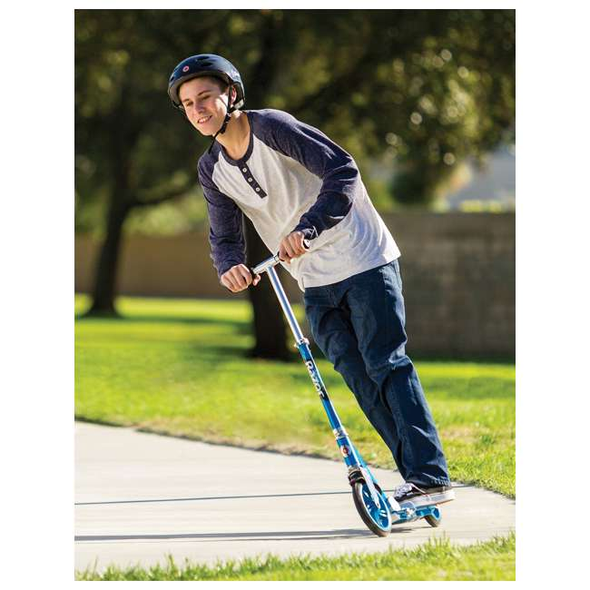 3 x 13013240 Razor A5 Lux Folding Kick Scooter, Blue (3 Pack) 2