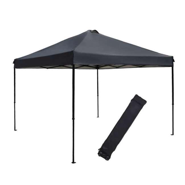 APFGA1010DG Abba Patio 10 x 10' Outdoor Pop Up Canopy, Dark Gray
