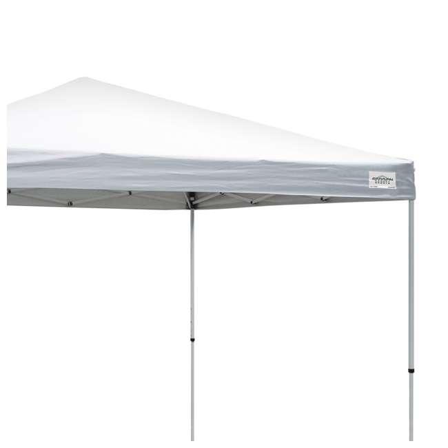 CVAN21007900010-U-A Caravan Canopy Sports V Series 2 Pro 10x10Ft Straight Leg Tent, White (Open Box) 2