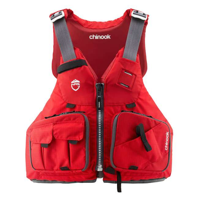 NRS_40009_04_105 NRS PFD Chinook Unisex Fishing Lifejacket, Red, Large/XL