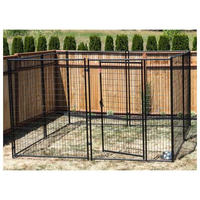 CL 69150-U-B Lucky Dog Large Modular Welded Wire Dog Kennel, 10 x 10 x 6 feet (Used) 2