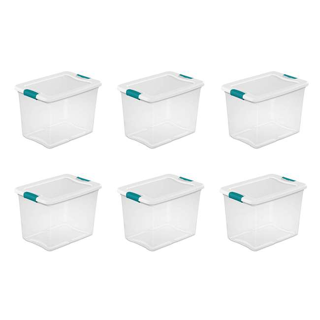 6 x 14958006 Sterilite 14958006 25-Quart Capacity Clear Storage Tote with Secure Latch Handles (6 Pack)