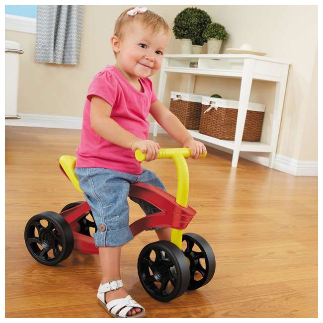 638077M Little Tikes Scooteroo 4 Wheel Toddler Indoor Outdoor Ride On Toy Bike, Red 2