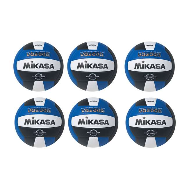 6 x VQ2000-RBW Mikasa USA Size 5 Composite Volleyball, Dark Blue (6 Pack)