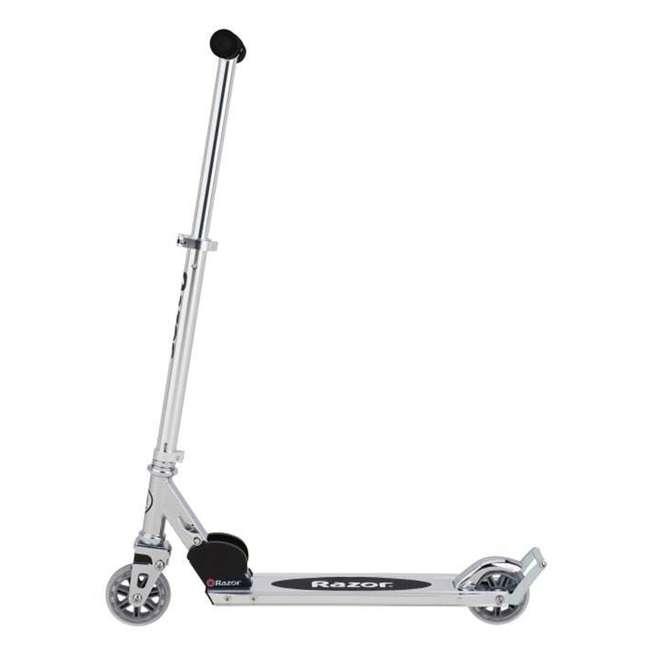 13003A2-RD + 13003A2-CL Razor A2 Kid Folding Aluminum Portable Kick Push Scooter w/ Wheelie Bar (2 Pack) 7