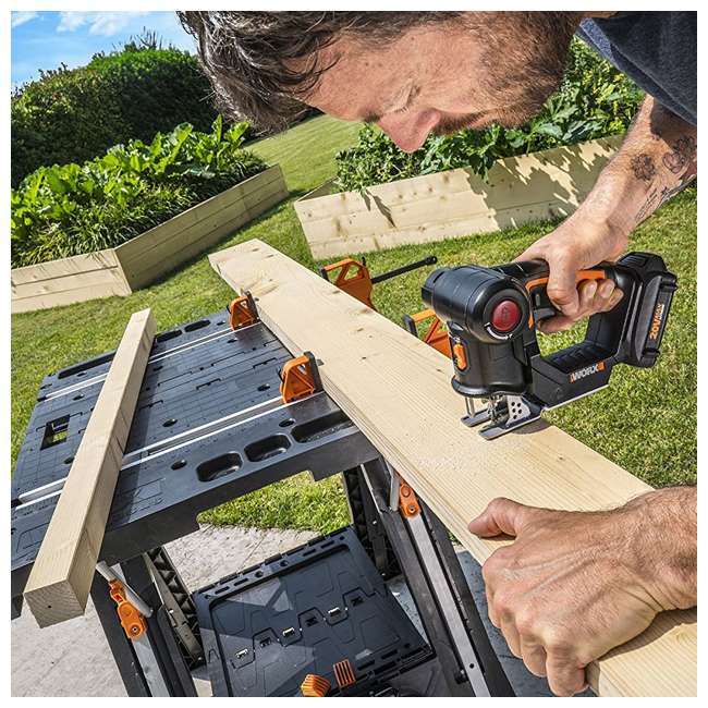WX550L Worx 20V Axis MaxLithium Battery 2-In-1 Cordless Reciprocating and Jig Saw Tool 7