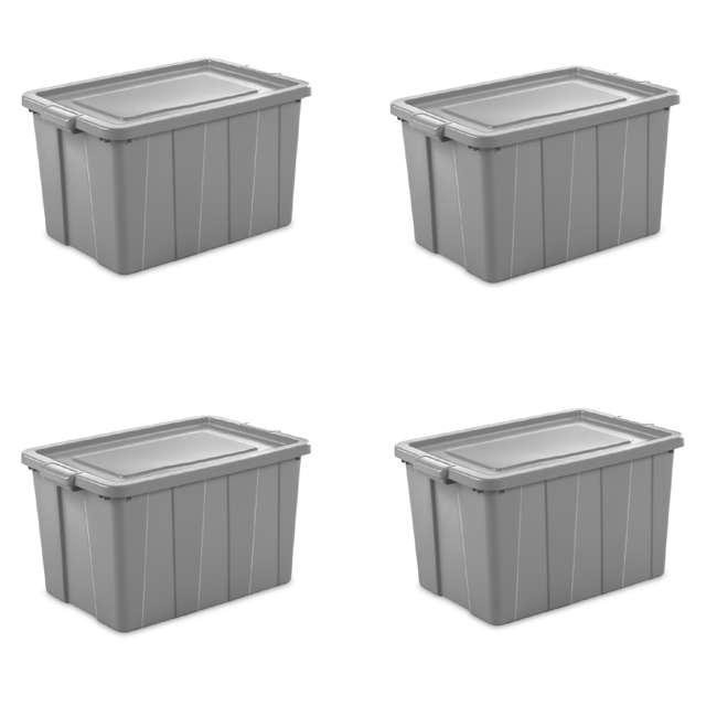 4 x 16796A04 Sterilite Tuff1 30 Gallon Plastic Storage Tote Container Bin w/ Lid (4 Pack)
