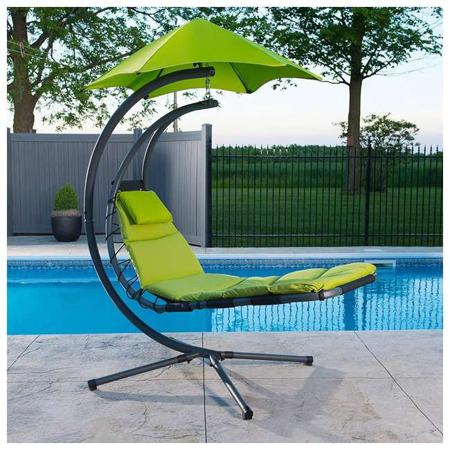 DREAM-GA Vivere The Original Dream Lounger Steel Backyard Patio Deck Chair, Green Apple 2