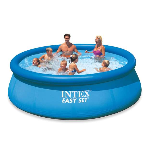 "28131EH-U-A Intex 12' x 30"" Easy Set Above Ground Swimming Pool & Pump (Open Box) (2 Pack) 2"