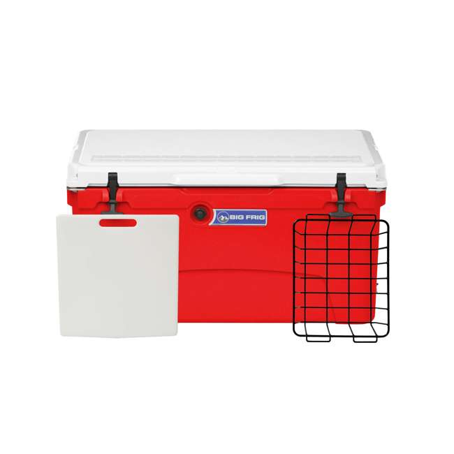BFDB75-RW Big Frig Denali 75 Quart 66 Can Cooler, Red/White