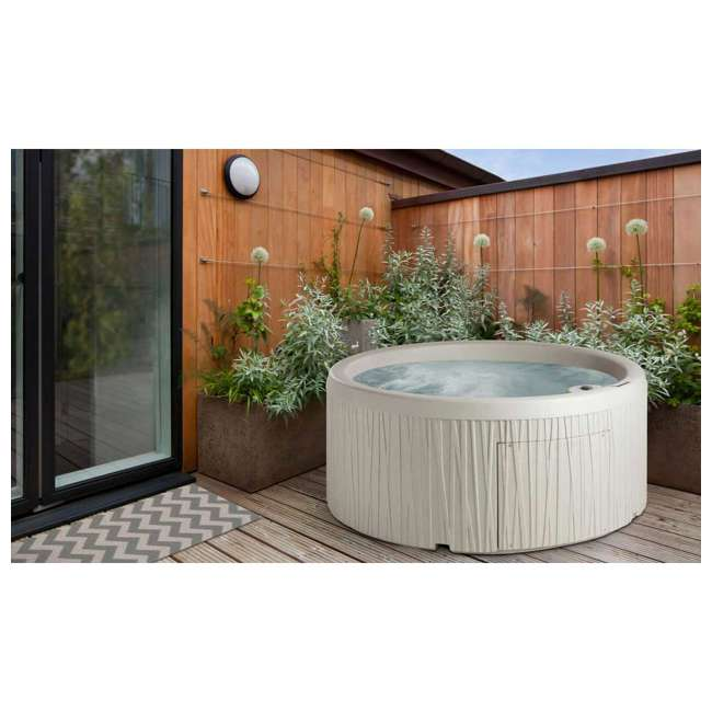 LS50DX-U-B Life Smart 5 Person Outdoor Patio Hot Tub Spa with 13 Jets & Cover, Sand (Used) 3