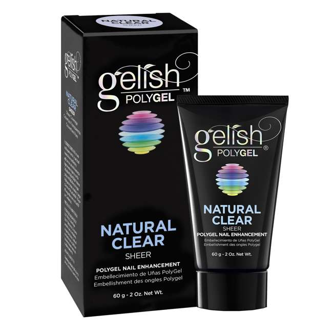 6 x 1712001-NATURAL Gelish PolyGel Nail Enhancement Natural Clear Sheer Shade, 2 Ounces (6 Pack) 2