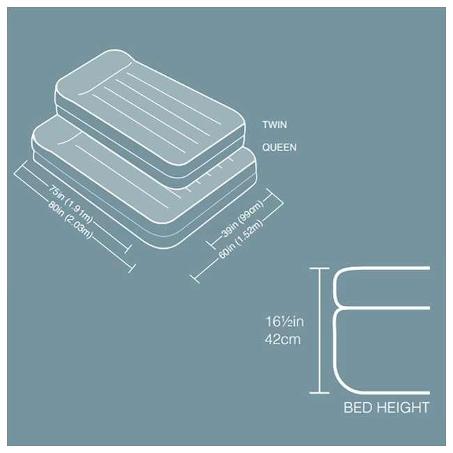 3 x 64123EP-U-A Intex Pillow Rest Raised Air Mattress w/ Built In Pump, Queen (Open Box)(3 Pack) 4