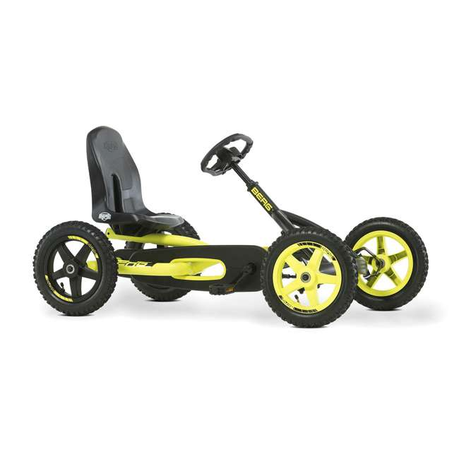 24.20.65.00 BERG Buddy Cross Kids Pedal Go Kart Ride On Toy w/ Axle Steering, Black & Yellow 3