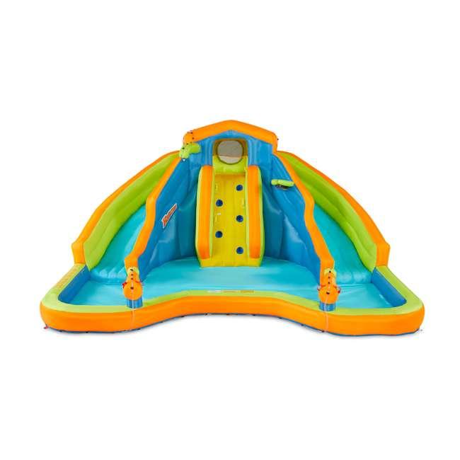 BAN-90369 Banzai 90369 Adventure Club Water Park Inflatable 2 Lane Water Slide Splash Pool 1