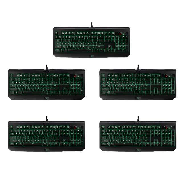 5 x RZ03-01700200-R3U1 Razer BlackWidow Ultimate Green Switch Mechanical Backlit Keyboard (5 Pack)