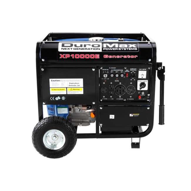 XP10000E + XPLGC DuroMax 10000 Watt Portable Gas Generator & Generator Cover, Black 3