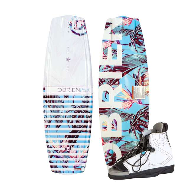 2180328-MW O'Brien Watersports Pixel 52 Inch Wakeboard with Nova Bindings, Size 5 to 9