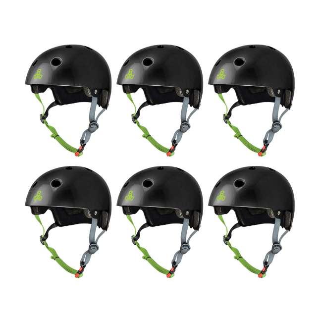 6 x T8-3048 Triple 8 Dual Certified Skate Bike Helmet, L/XL (6 Pack)