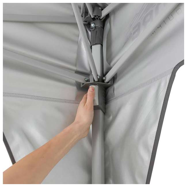 3 x CORE-40071-U-B CORE Instant 10 x 10 Foot Outdoor Canopy Shelter Tent, Gray (Used) (3 Pack) 2