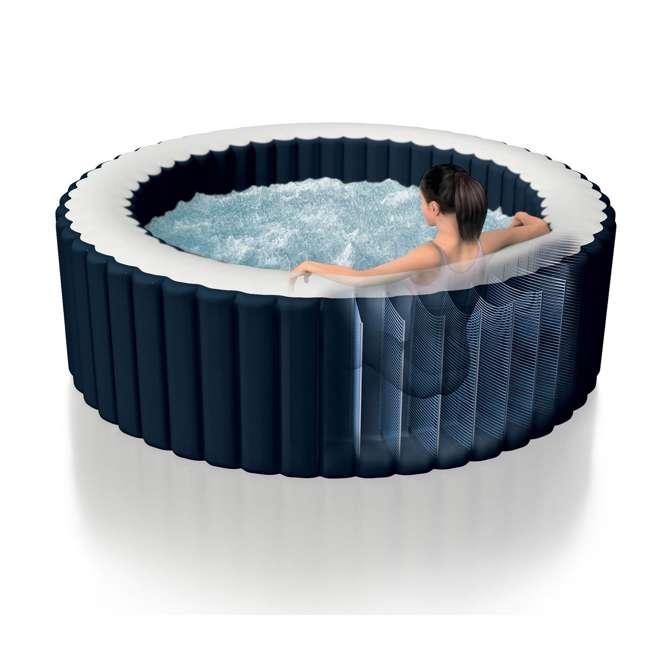 28405E + 28004E + QLC-14890 Intex Pure Spa 4-Person Home Inflatable Hot Tub, Accessory Kit, & Chemical Kit 2