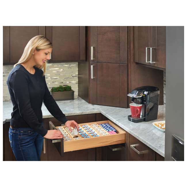 4CDI-24-KCUP-1 Rev-A-Shelf 4CDI-24-KCUP-122-Inch K-Cup Solid Wood Custom Kitchen Drawer Insert 2