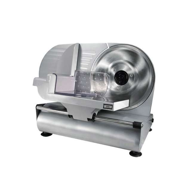 61-0901-W Weston 9-Inch Stainless Steel Electric Meat Slicer (2 Pack) 1