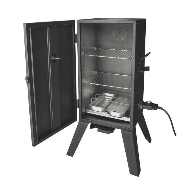 26142E Smoke Hollow 26142E 26 Inch Electric Smoker with Adjustable Temperature, Black 1
