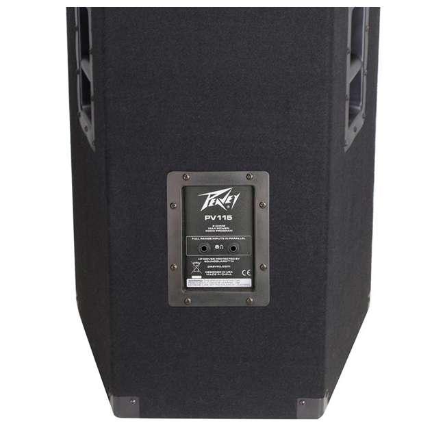 PV-115 + 2 x PSTND3 Peavey 15-Inch 2-Way 800-Watt Speakers (Pair) + Pyle 58-Inch Speaker Poles (Pair) 5