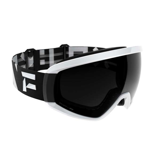 FX801001020ONE Flaxta Continuous Peripheral Vision Snowboard and Ski Goggles, Black and White