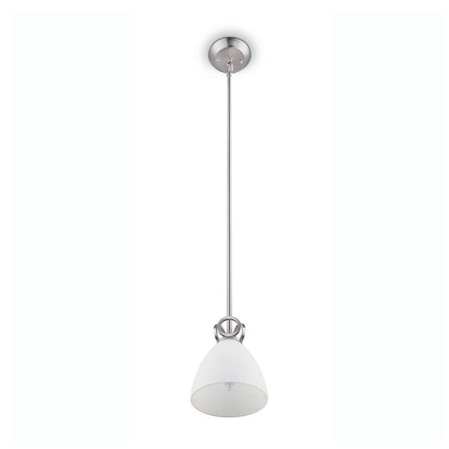 3 x PLC-TC0024217 Philips Maurice 1-Light Ceiling Pendant Fixture, Brushed Nickel (3 Pack) 1