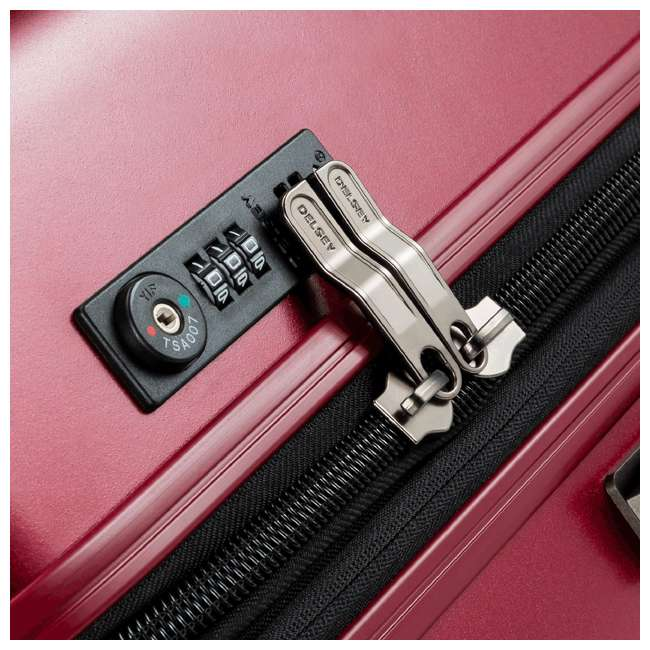 00207180004 DELSEY Paris Titanium Expandable Carry On Spinner Rolling Luggage Suitcase, Red 5
