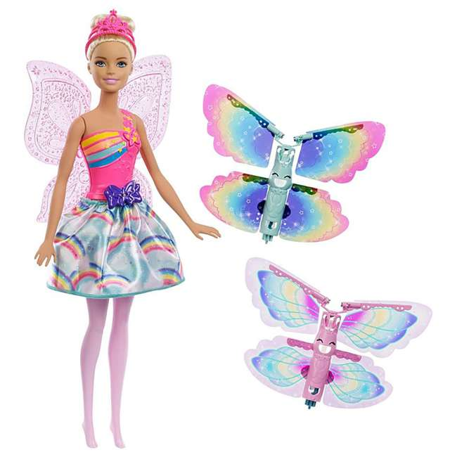 4 x FRB08 Mattel Barbie Dreamtopia Flying Wings Fairy Doll (4 Pack) 1