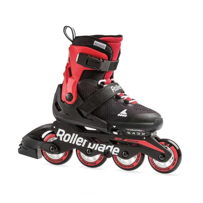 7957200741-L Rollerblade USA Microblade Unisex Adjustable Fitness Inline Skate, Large, Red