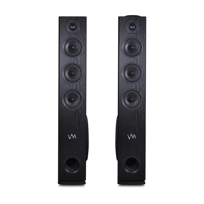 EXAT31-BK VM Audio EXAT31 Black Floorstanding Powered Bluetooth Tower Home Speakers Pair 3